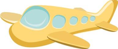 Vliegtuigvector Geïsoleerde Illustratie Royalty-vrije Stock Afbeeldingen