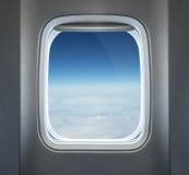 Vliegtuigvenster Royalty-vrije Stock Afbeeldingen