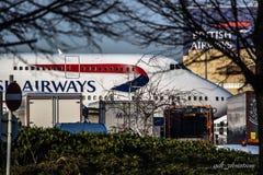 Vliegtuigverkeer Stock Afbeelding