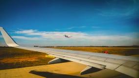Vliegtuigvleugel Stock Foto's
