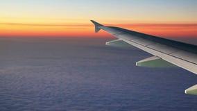 Vliegtuigvleugel stock footage
