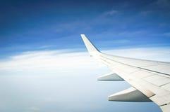 Vliegtuigvleugel Stock Fotografie