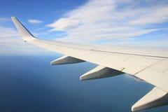 Vliegtuigvleugel Stock Foto