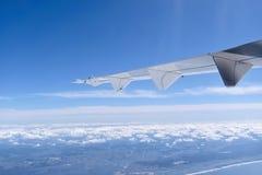 Vliegtuigvleugel Royalty-vrije Stock Foto's