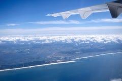 Vliegtuigvleugel Royalty-vrije Stock Afbeeldingen