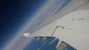 Vliegtuigvleugel royalty-vrije stock afbeelding