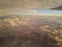 Vliegtuigwolken Royalty-vrije Stock Afbeelding