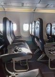 Vliegtuigzetels royalty-vrije stock afbeelding