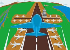Vliegveld stock illustratie
