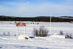 Vliegveld in Inari, Finland Stock Fotografie
