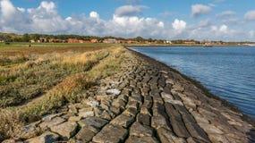 Vlielandkust, Wadden Overzees, Holland royalty-vrije stock afbeelding