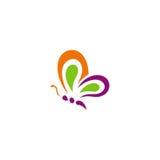 Vlinder absract schoonheid gekleurd embleem Royalty-vrije Stock Afbeelding