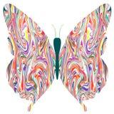 Vlinder in abstracte kleuren Royalty-vrije Stock Foto's