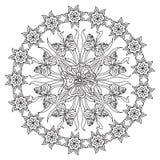 Vlinder Abstracte mandala zentangle Royalty-vrije Stock Fotografie