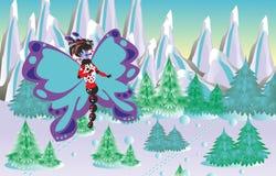 Vlinder in bergen Stock Afbeelding
