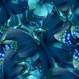 Vlinder 05 blauw Royalty-vrije Stock Afbeelding