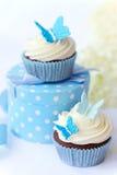 Vlinder cupcakes Royalty-vrije Stock Foto's