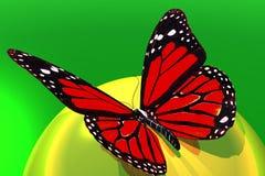 Vlinder en bal vector illustratie