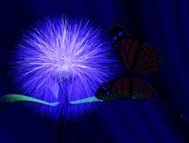 Vlinder en bloem royalty-vrije illustratie