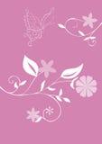 Vlinder en bloemen. Royalty-vrije Stock Afbeelding