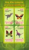 Vlinder en dinosaurus royalty-vrije stock foto