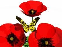 Vlinder en flowerses royalty-vrije illustratie