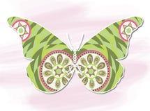 Vlinder, het Decoratieve schilderen Stock Afbeeldingen