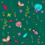 Vlinder, insecten, lieveheersbeestje Stock Foto