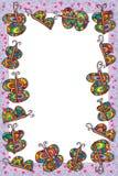 Vlinder kleurrijk kader Stock Foto's