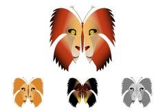 Vlinder met een leeuw op de vleugels stock illustratie