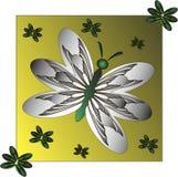 Vlinder met ornament Stock Foto's