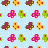 Vlinder naadloos patroon royalty-vrije illustratie