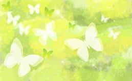 Vlinder op natuurlijke bokehachtergrond Stock Foto