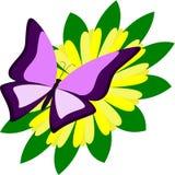Vlinder op zonnebloem Royalty-vrije Stock Fotografie