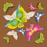 Vlinder, patroon, achtergrond Stock Afbeelding