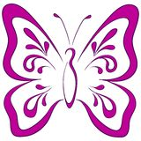 Vlinder, pictogram Royalty-vrije Stock Afbeelding