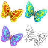 Vlinder, reeks Stock Fotografie