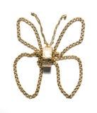 Vlinder van goud Royalty-vrije Stock Afbeeldingen