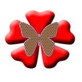 Vlinder van liefde royalty-vrije illustratie