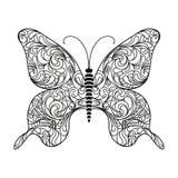 Vlinder Vector illustratie Stock Foto