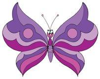 Vlinder (vector klem-kunst) Stock Afbeelding