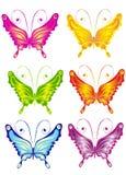 Vlinder, vectorillustratie Stock Foto's