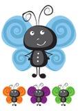 Vlinder vectorillustratie Stock Foto