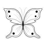 Vlinder vectorillustratie Royalty-vrije Stock Foto's