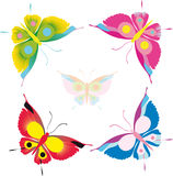 Vlinder, vlinders Stock Fotografie