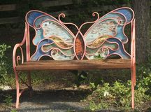 Vlinder Wing Resting Bench stock afbeeldingen