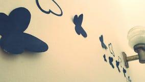 Vlinderbehang stock foto's