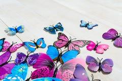 Vlinderdecoratie Royalty-vrije Stock Foto's