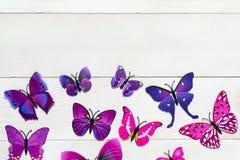 Vlinderdecoratie Stock Foto