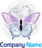 Vlinderembleem stock illustratie
